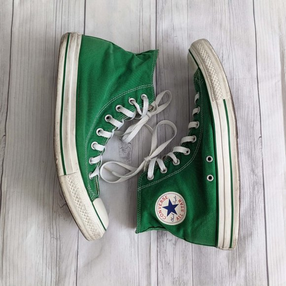 Green Converse High Top Sneakers Size 11